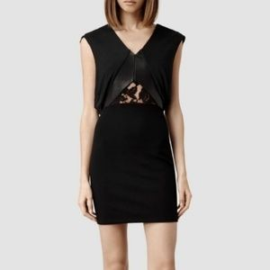 All Saints Nix Dress Size 8 (US) 12 (UK) Mini